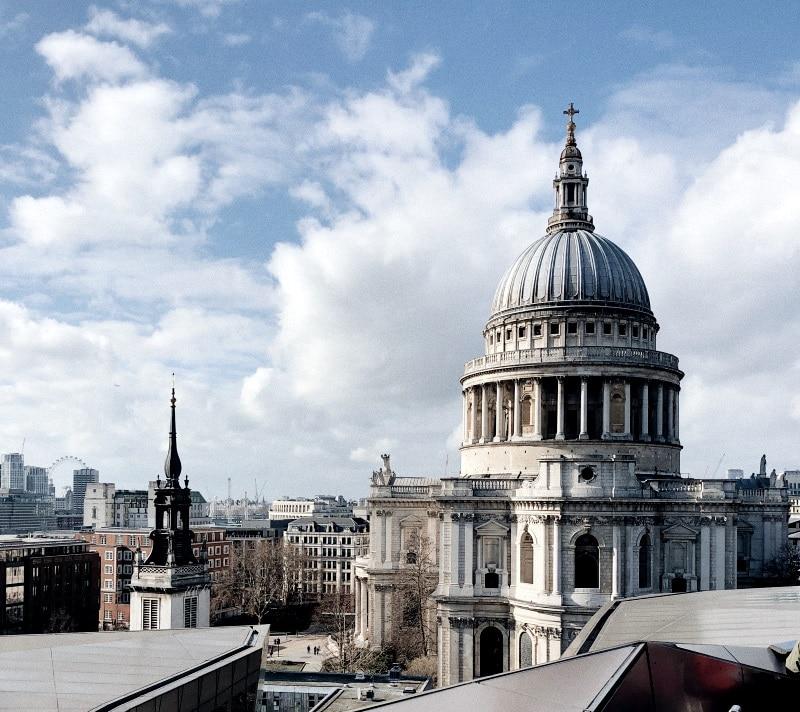 La Catedral de San Paul es muy turística entre los viajeros de Londres