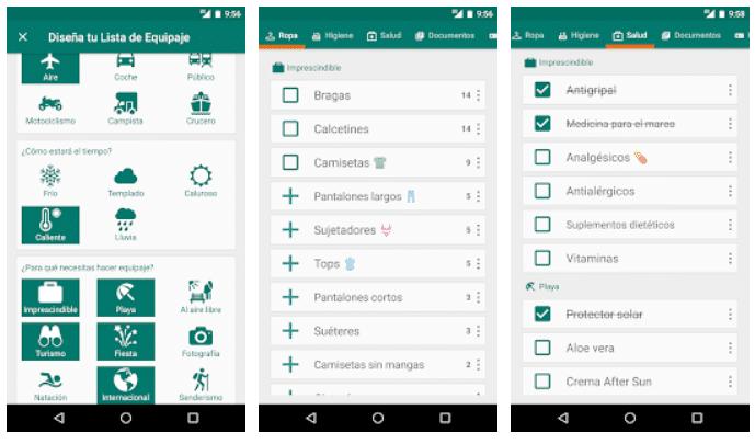 PackKing, la mejor aplicación para organizar tu maleta