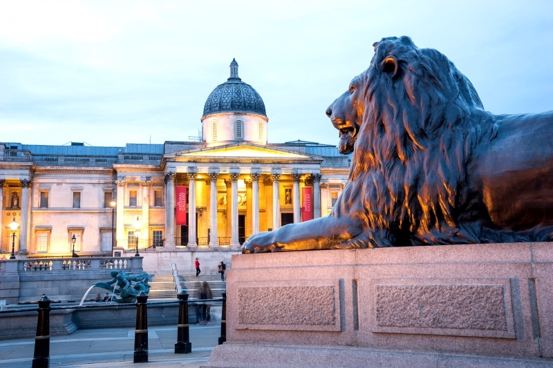 National Gallery en Trafalgar Square de Londres