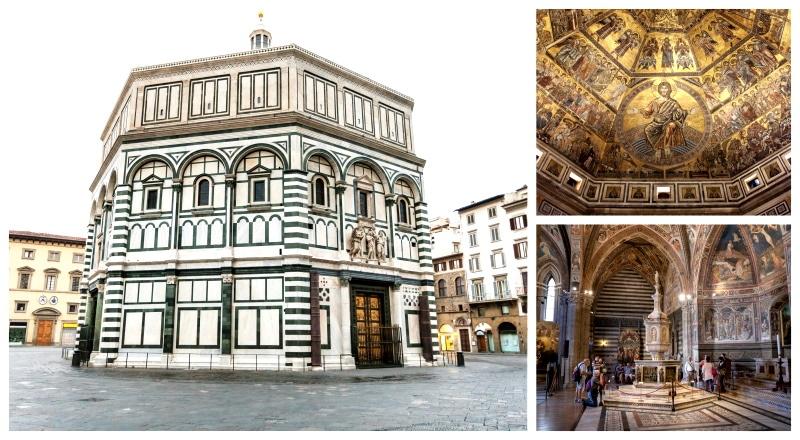 Battistero di San Giovanni se encuentra en la Piazza del Duomo