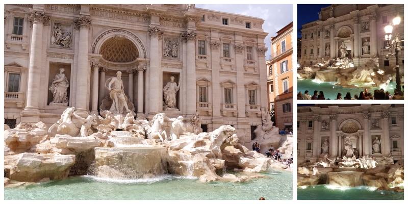 Uno de los monumentos históricos de Roma es la Fontana di Trevi