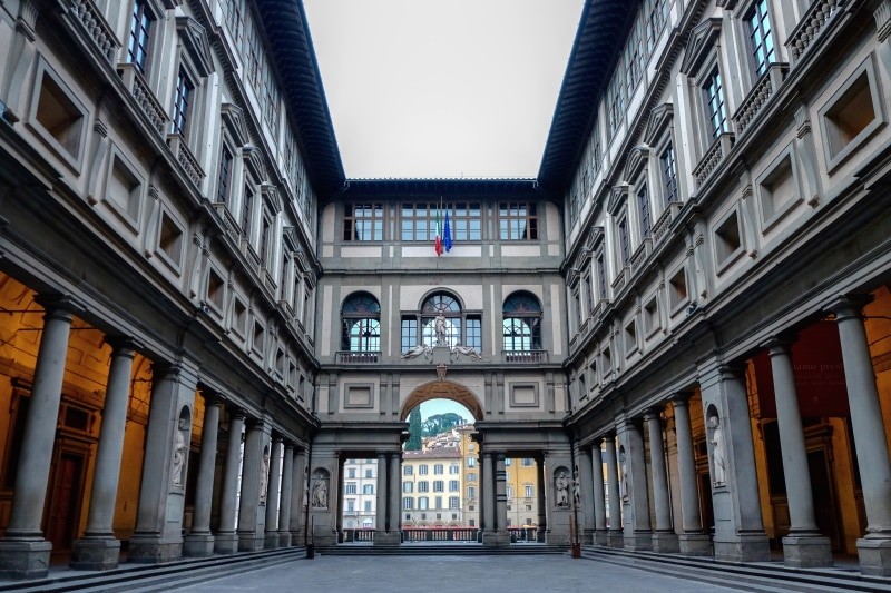 Galería Uffizi y el arte renacentista