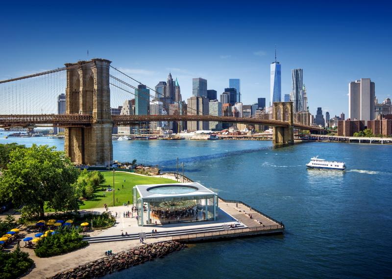 En Nueva York se encuentra uno de los puentes más famosos del mundo, el Puente de Brooklyn