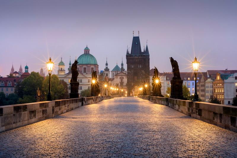 En Praga podemos encontrar el famoso puente de Carlos V