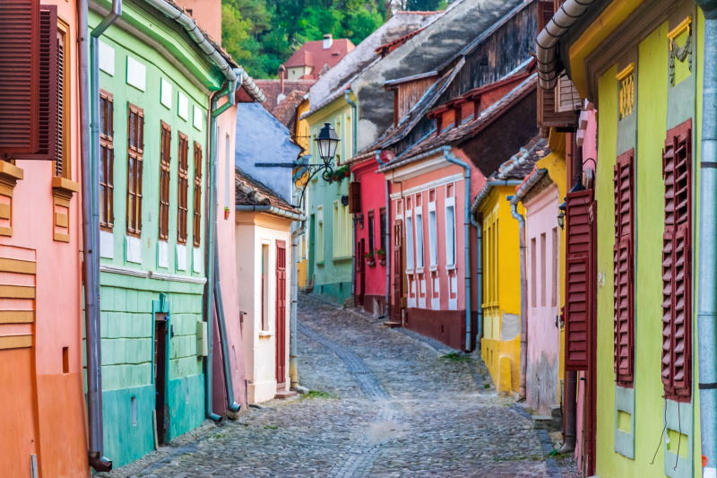 Viaja a Sighisoara situada en Rumanía