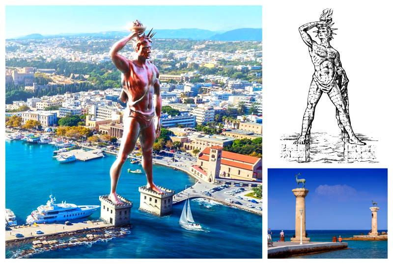 Coloso de Rodas es una de las grandes maravillas del mundo antiguo