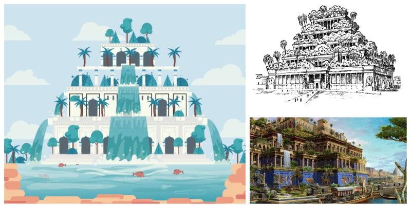 Jardines Colgantes de Babilonia una de las maravillas del mundo antiguo