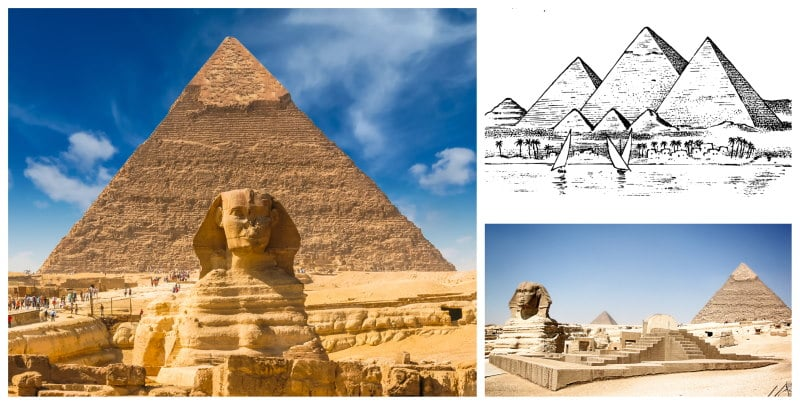La Gran Piramide de Guiza es una de las maravillas del mundo antiguo