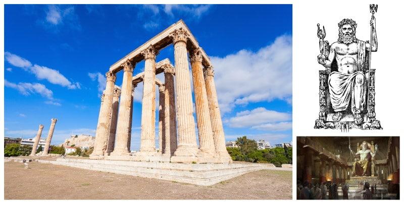 La Estatua de Zeus es una de las grandes maravillas del mundo antiguo