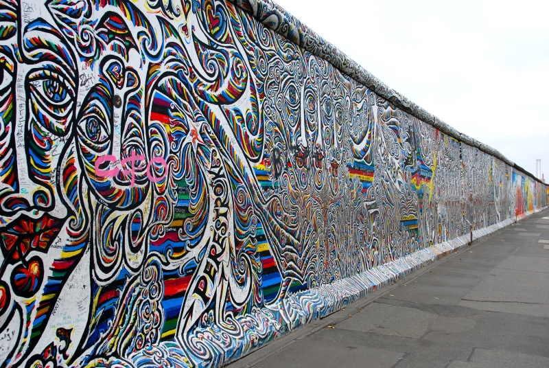 El muro de berlín y su famoso East Side Gallery