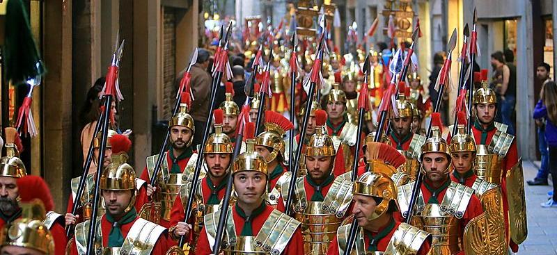 Los Manaies de Girona durante la Semana Santa