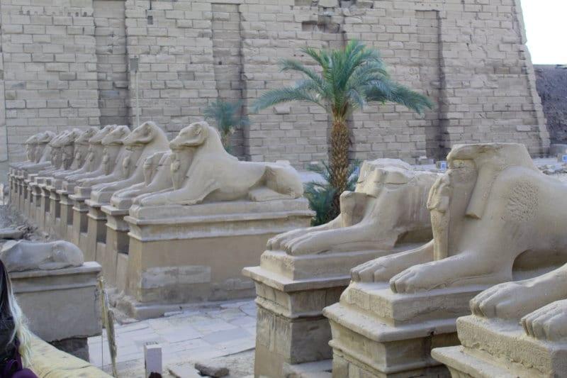 Paseo de las esfinges, Templo de Karnak
