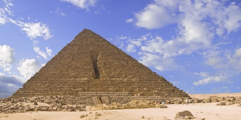 Una de las pirámides más pequeñas