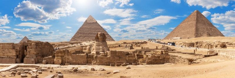 Recinto de las pirámides de Egipto