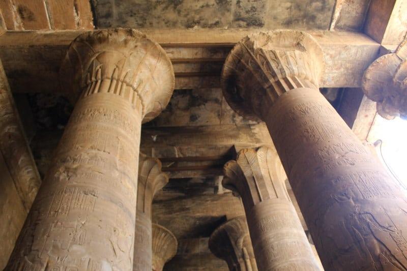 Interior del Templo de Edfu
