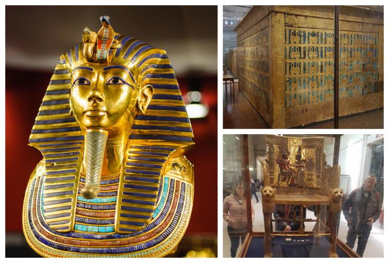 Tesoros de Tutankamón en el Museo Egipcio