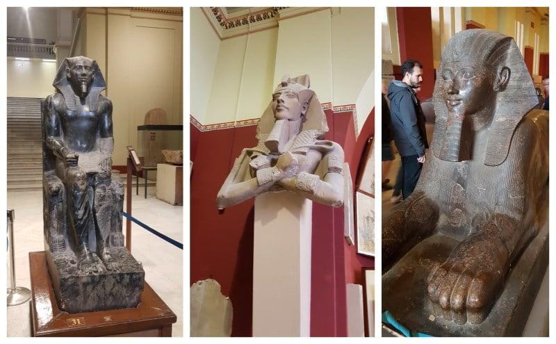 Estatuas y bustos del Museo Egipcio