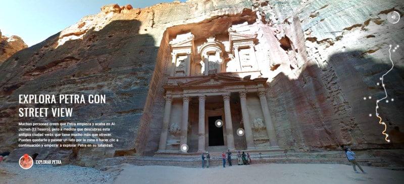 Visitas virtuales a monumentos como Petra