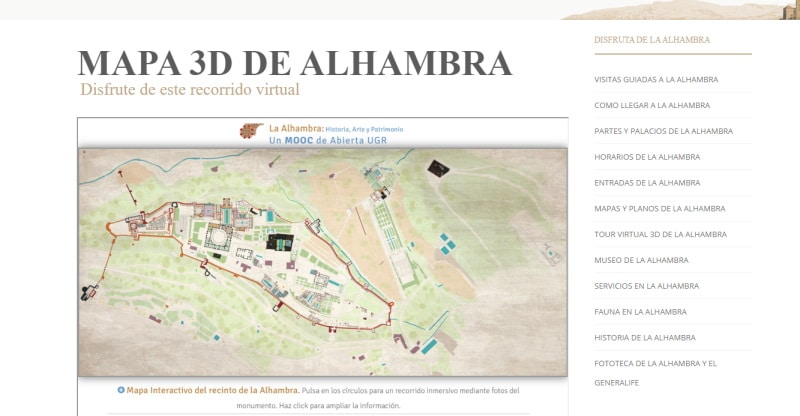 Visitas virtuales a monumentos en Granada