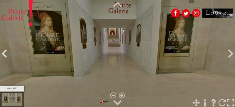 Realiza la visita virtual al Museo del Louvre