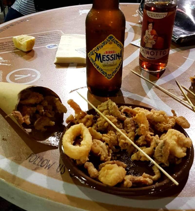 Donde comer en Catania bien y barato pescado frito