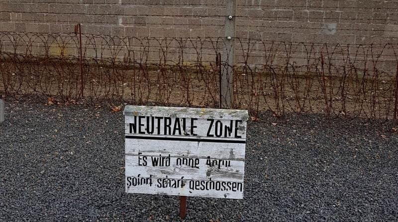 Zonas del campo de concentración
